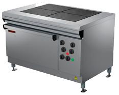 Плита профессиональная электрическая ПЭ-0,48ШП 4-х конфорочная с жарочным шкафом