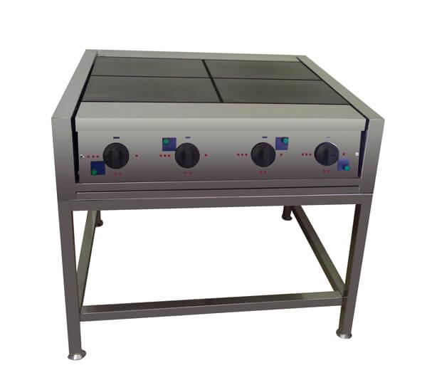 Электрическая плита (четырех конфорочная) без жарочного шкафа.