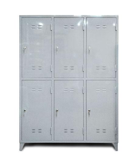 Шкаф металлический шестисекционный