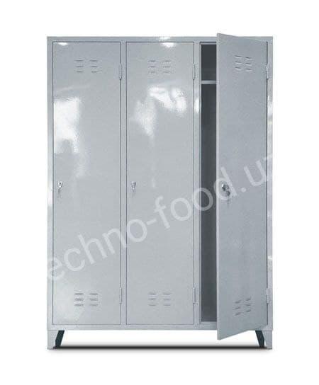 Шкаф металлический трехсекционный