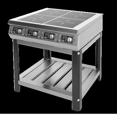 Плита 4-х конфорочная индукционная Ф4ИП/800 (на подставке)