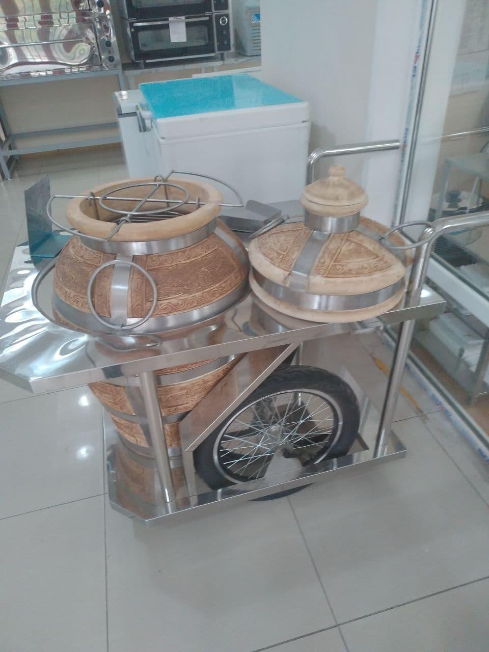 Тандыр керамический на колесах