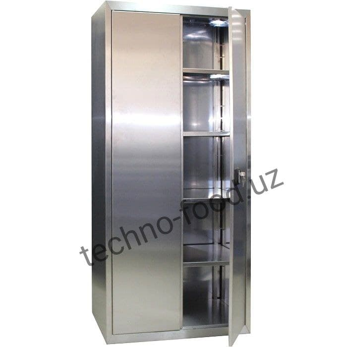 Шкаф металлический нержавеющий для хранения посуды